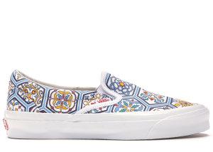 Vans  Slip-On Kith Moroccan Tile Blue White/Multi (VN0A45JK2CM)