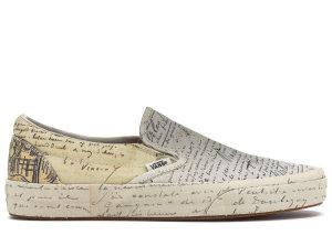 Vans  Slip-On Van Gogh Letters (W) Letters/Turtledove (VA38F7U7T)