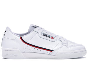 adidas  Continental 80 White Scarlet Navy Cloud White/Scarlet/Collegiate Navy (G27706)