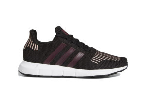 adidas  Swift Run Core Black Maroon (W) Core Black/Maroon/Pink Spirit (FU7769)