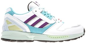 adidas  ZX 8000 White Purple Aqua Footwear White/Purple/Light Aqua (EF4366)