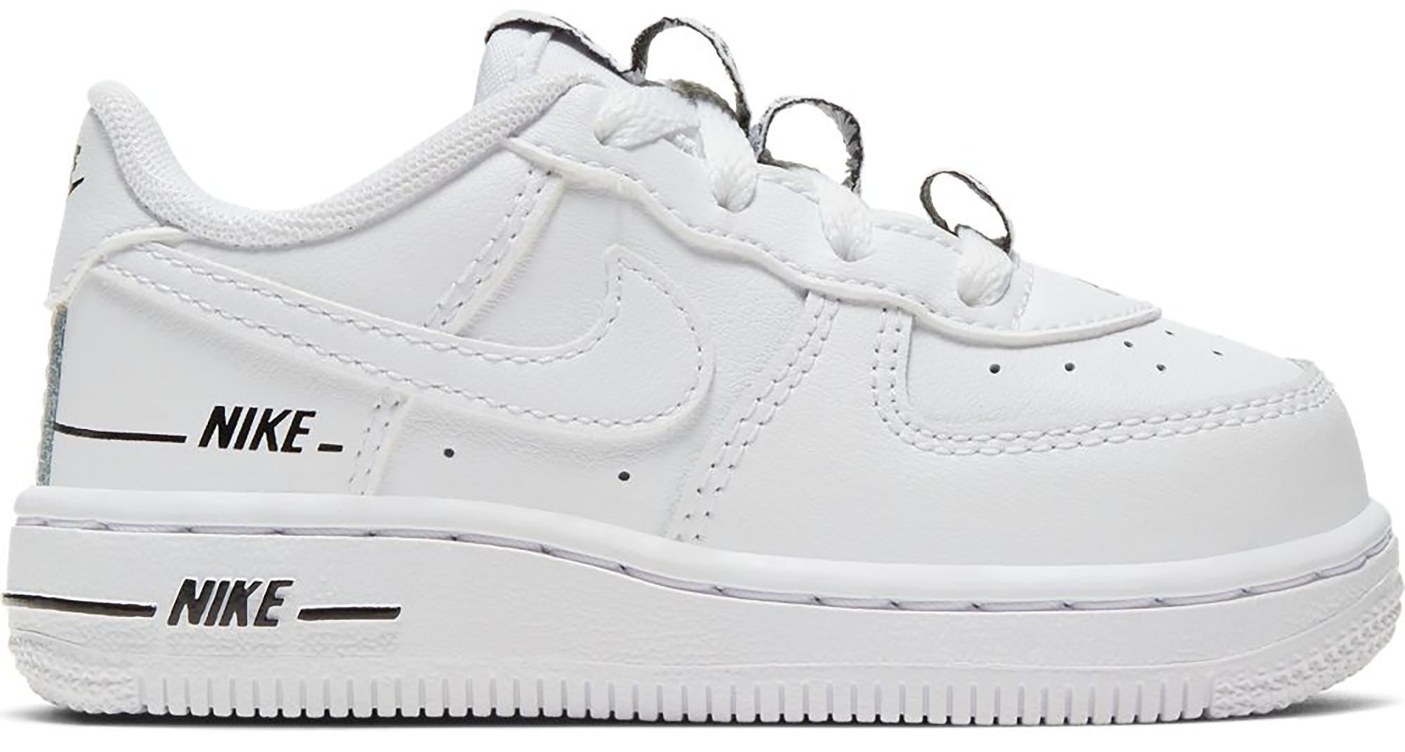 Nike Air Force 1 Low Double Air White Black (TD) White/Black-White ...